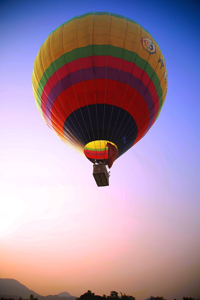 Hot Air Balloon in Laos